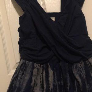 Converse One Star Navy Gray Tye Dye Dress L